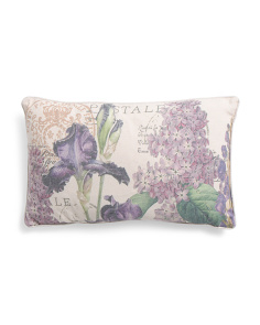 12x20 French Floral Pillow