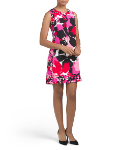 Sleeveless Printed Floral Shift Dress