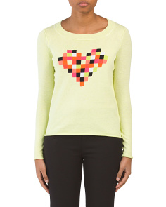 Cotton Cashmere Blend Lego My Heart Sweater
