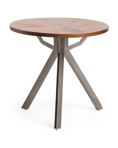 Made In India Metal And Wood Side Table