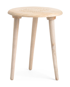 Made In India Round Wood Tripod Table