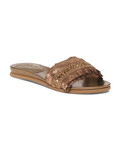 Wide One Band Suede Sandals