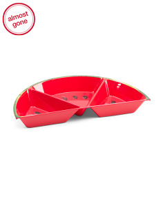 3 Section Outdoor Watermelon Tray