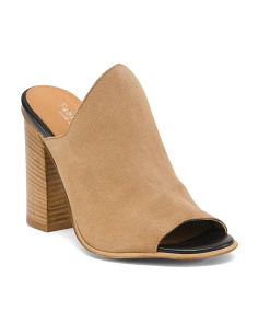 Made In Italy Stacked Heel Mules