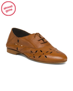 Made In Italy Lace Up Leather Oxfords