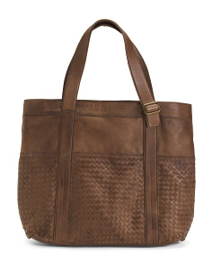 Made In Italy Leather Tote Bag
