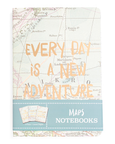 3pk Small Map Print Journal Set