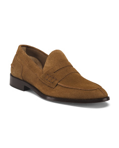 Made In Italy Moc Toe College Suede Loafers