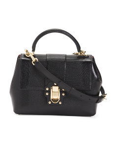 Made In Italy Lucia Leather Satchel
