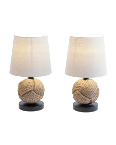 Set Of Two Knot Table Lamps