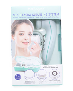 Sonic Facial Cleansing System 3 Brushes