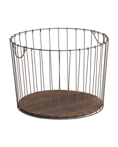 Large Wire Tapered Round Basket