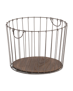 Medium Wire Tapered Round Basket
