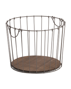 Small Wire Tapered Round Basket