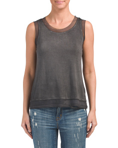 Pigment Washed Raw Edge Tank