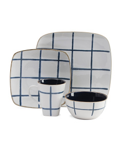 Stoneware 16pc Dinnnerwear Set