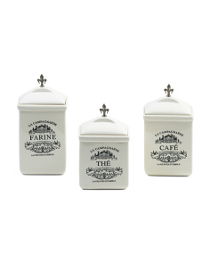 Set Of 3 Farmhouse Canisters