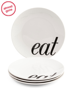 Set Of 4 Eat Salad Plates