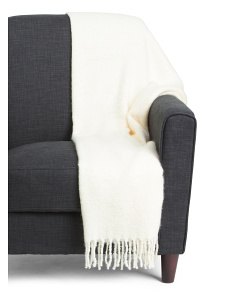 Textured Knit Throw