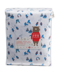 Kids Winter Days Flannel Sheet Set