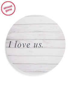 20in Round Love Us Canvas Wall Art