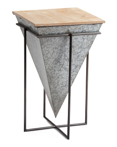Galvanized Metal And Wood Table