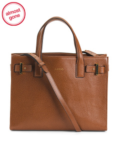 Stephanie RFID Tara Leather Satchel