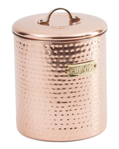 Made In India 4qt Copper Decor Cookie Jar