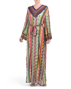 Made In Italy Mutli-Colored Weave Maxi Dress
