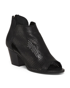 Made In Italy Perforated Leather Booties