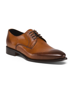 Made In Italy Men's Derby Leather Dress Shoes