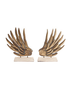 Set Of 2 Wing Book Ends