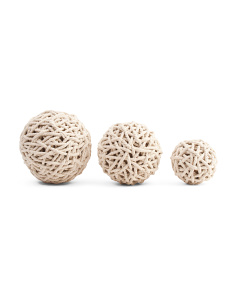 Set Of 3 Nautical Rope Balls