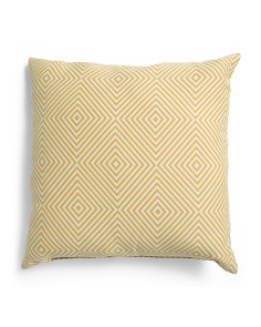 Made In USA 22x22 Geo Pattern Pillow