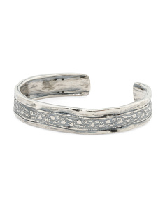 Made In Israel Sterling Silver Cuff Bracelet