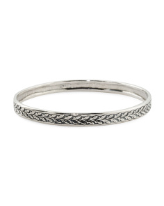 Made In Israel Sterling Silver Bangle Bracelet