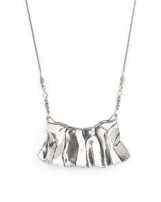 Made In Israel Sterling Silver Bib Necklace