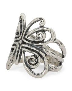Made In Israel Sterling Silver Butterfly Ring