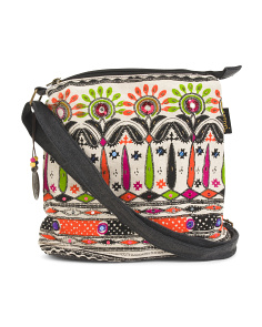 Anna Printed Fabric Crossbody