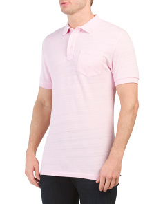 Short Sleeve Slub Polo Shirt