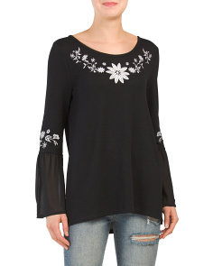 Tie Back Bell Sleeve Top