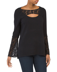 Lace Keyhole Top