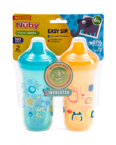 2pk No Spill Insulated Easy Cups