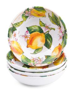 Melamine 4pk Outdoor Lemon Bowls