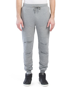 French Terry Moto Zip Pocket Joggers