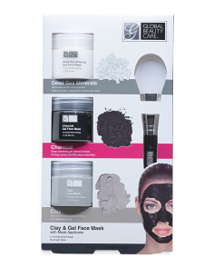 3pk Clay & Gel Mask Set