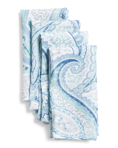 Set Of 4 Nari Paisley Napkins