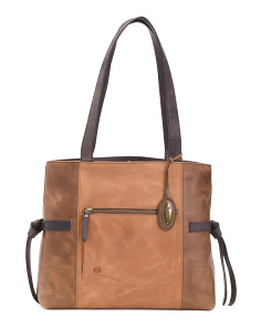 Leather Glendale Distress Tote