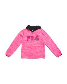 Big Girls Space Dye Tech Hoodie