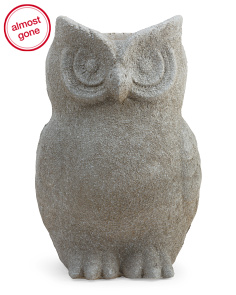 Outdoor Clay Owl Planter